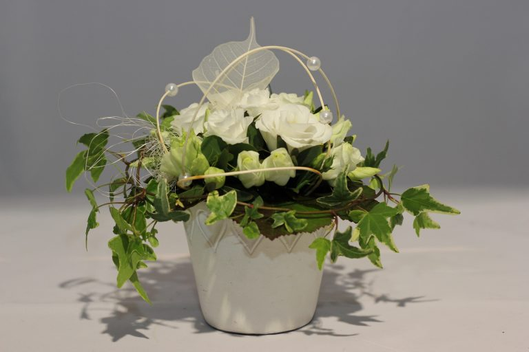 CP021 Composition lisianthus blanc